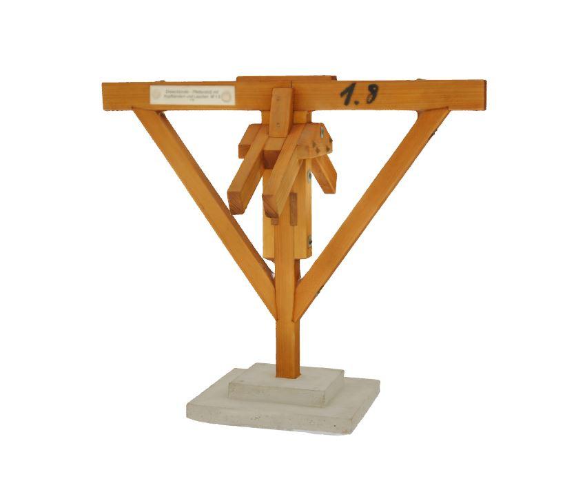 5. Dreieckbinder - Pfettenstoß mit Kopfbändern und Laschen (1966)