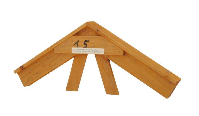 3. Dreieckbinder - Firstknoten 2-teiliger Obergurt eines Brettbinders (1966)